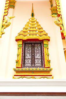 Free Thai Temple Window Stock Photos - 15549303