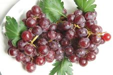 Grape Close On Plate Royalty Free Stock Image