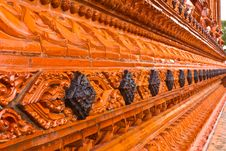Thai Temple Wall Royalty Free Stock Image