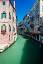 Free Venice Canal With Houses Standing In Water Stock Images - 15556174