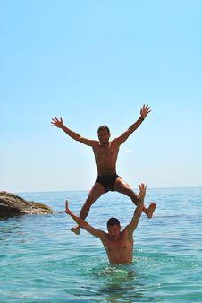 Free Men Jumping Stock Image - 15550281