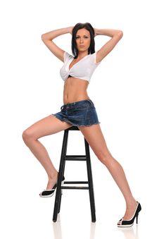 Young Fashion Model Posing Stock Photos