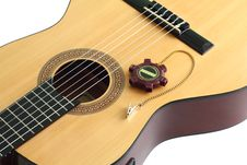 Free Acoustic Guitar And A Tuning Fork Royalty Free Stock Photo - 15550925