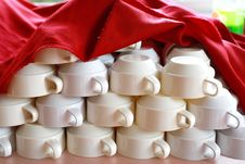 Free Coffee Cup Set Stock Photography - 15551872
