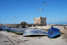 Fishing Boats At Essaouira Stock Images