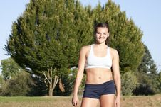 Free Young And Attractive Female Athlete Smiles. Stock Photos - 15552233