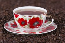 Free Cup On Coffee Beans Stock Images - 15552894