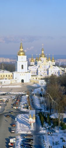 Free Aerial View Of St. Michael S Cathedral. Kyiv. Royalty Free Stock Images - 15553489