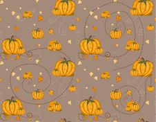 Free Seamless Pattern - Pumpkin Royalty Free Stock Photo - 15554195