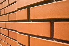 Close-up Of A Brick Wall Royalty Free Stock Photography