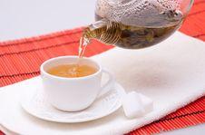Pouring Green Tea Stock Photos