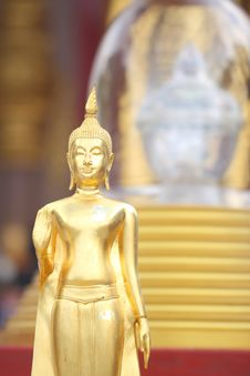 Buddha S Relics And Modeling Of Buddha. Royalty Free Stock Image