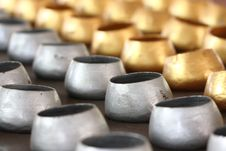 Free Gold And Silver Monk S Alms-bowl. Stock Photos - 15554663