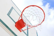 Free Basket Hoop Over Sky 2 Royalty Free Stock Images - 15555379