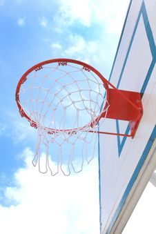 Free Basket Hoop Over Sky 3 Stock Photo - 15555390