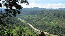 Free Tropical Mountain Vista Above A River,Ecuador Stock Photos - 15555393