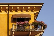 Garda, House Detail At Lake Garda, Italy Stock Image