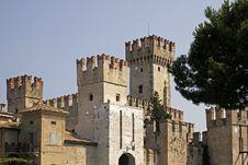 Free Sirmione, Scaliger Castle, Lake Garda, Europe Stock Photos - 15555713