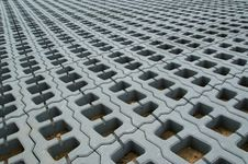 Free Permeable Pavers (Lawn Grid) Royalty Free Stock Photos - 15555818