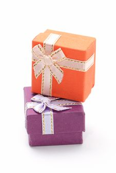 Free Two Gift Boxes Royalty Free Stock Images - 15557059