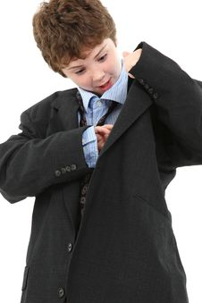 Free Boy In Baggy Suit Stock Photos - 15557613