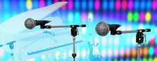 Free Microphones On Stage Stock Photos - 15557743