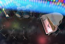 Free Musical Instruments On A Stage Stock Image - 15557801