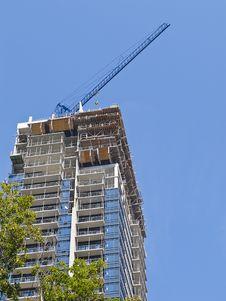 Condo Tower Under Construction Stock Photos