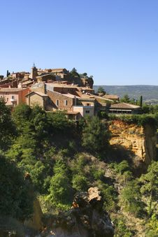 The Village Of Roussillon Royalty Free Stock Photography