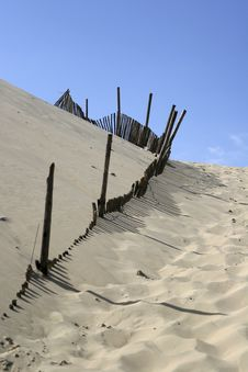 Sand Dune At Arcachon Stock Image