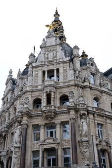 Free Ornate Building In Antwerp Stock Photography - 15559312