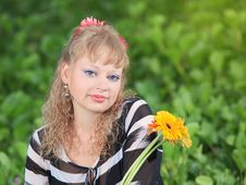 Free Woman With Flowers Stock Photo - 15559570