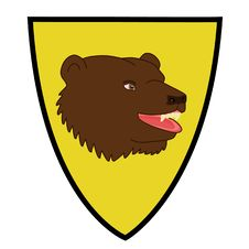 Coat Of Arms With Bear Head Stock Photography