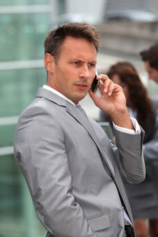 Free Businessman Talking On Mobile Phone Stock Photography - 15559812