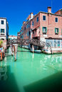 Free Venice Canal With Bridge And Houses In Water Royalty Free Stock Photo - 15562595