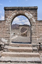 Free Great Wall: View Through A Double Window. Stock Images - 15565124