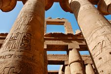The Karnak Temple In Egypt Stock Image
