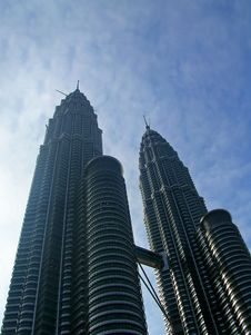Twin Towers (Petronas) Stock Photos