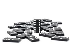 Free Dominoes Over White Royalty Free Stock Photography - 15561147