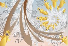 Free Grey Abstract Plant Pattern Illustration Stock Photos - 15561783