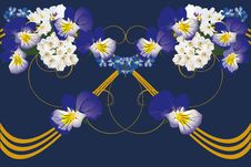 Free Design With Beautiful Blue Violets Royalty Free Stock Image - 15561786