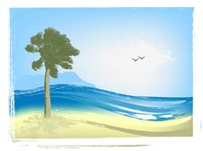 Free Illustrated Seascape Stock Photo - 15561820