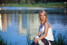 Free Girl By The Lake Royalty Free Stock Photography - 15562077