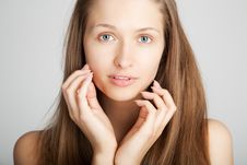 Free Beautiful Girl Face Royalty Free Stock Photography - 15562377