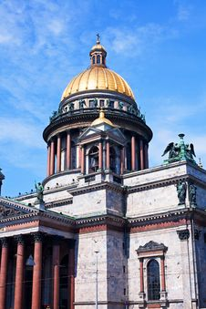St. Isaac S Cathedral In St. Petersburg Royalty Free Stock Photo