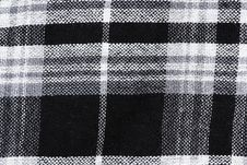 Free Black & White Checked Material Background Stock Photography - 15562502