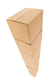 Free Tower Of Cardboard Boxes Royalty Free Stock Photo - 15562785