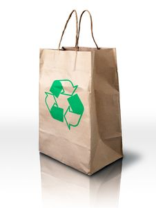Free Brown Recycle Crumpled Peper Bag Royalty Free Stock Photo - 15562885