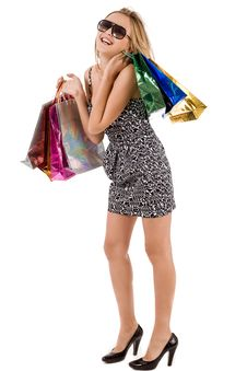 Free Attractive Model Enjoy Her Shopping Royalty Free Stock Photos - 15563118