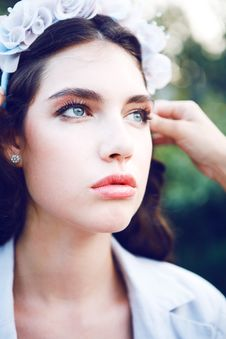 Free Pretty Women In The Garden Royalty Free Stock Image - 15563226